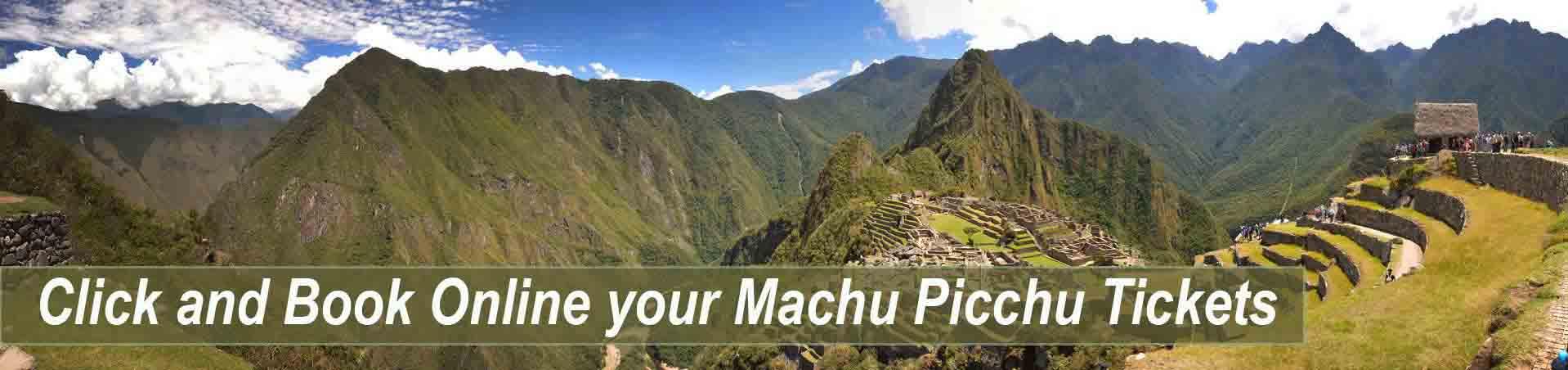Book Online yor Machu Picchu tickets