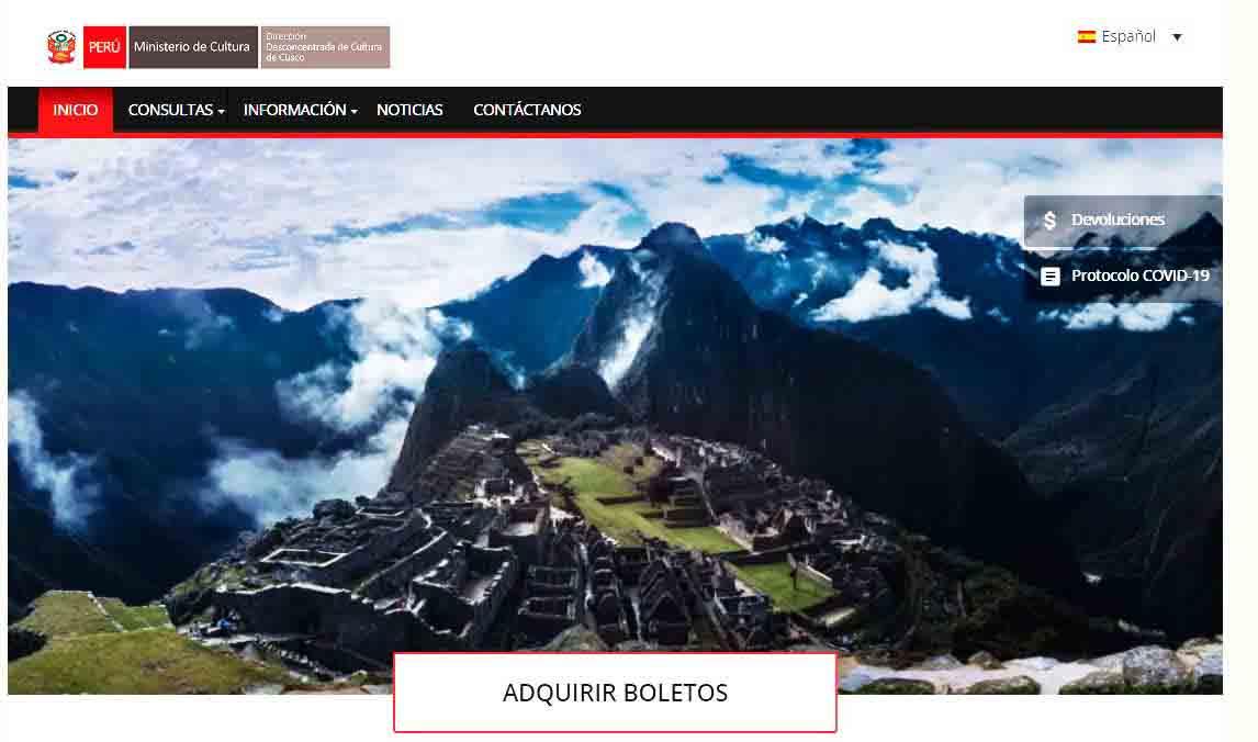 Machu Picchu Tickets 2021 Official Site