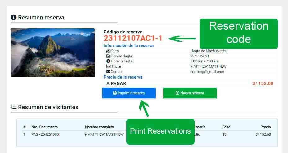 Machu Picchu tickets online