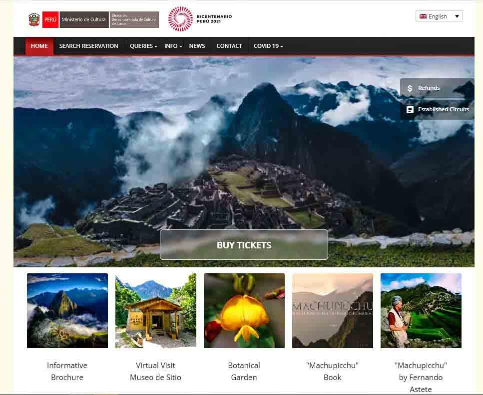 Machu Picchu Tickets 2022 Official Site